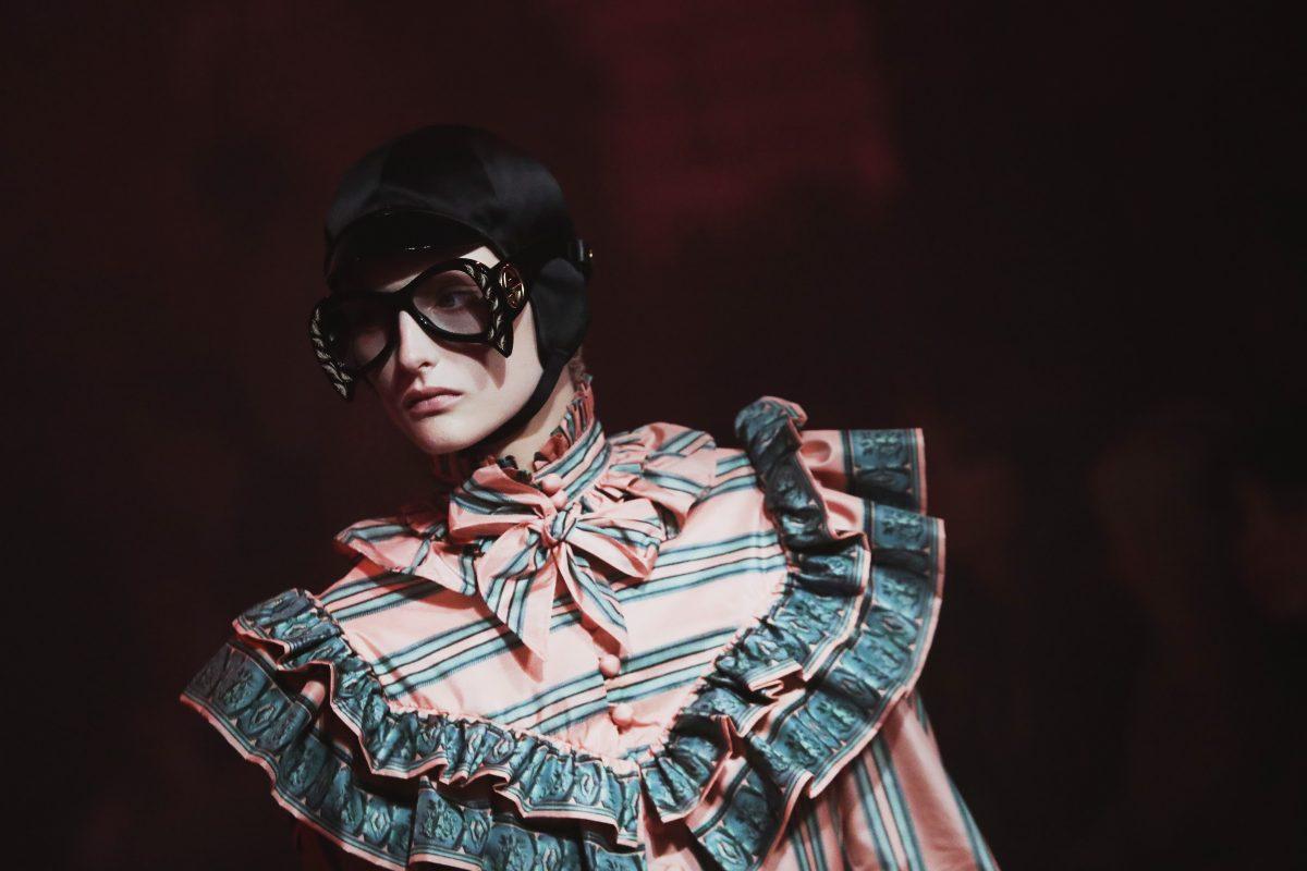 Sfilata Gucci alla Fashion Week P/E 2017.