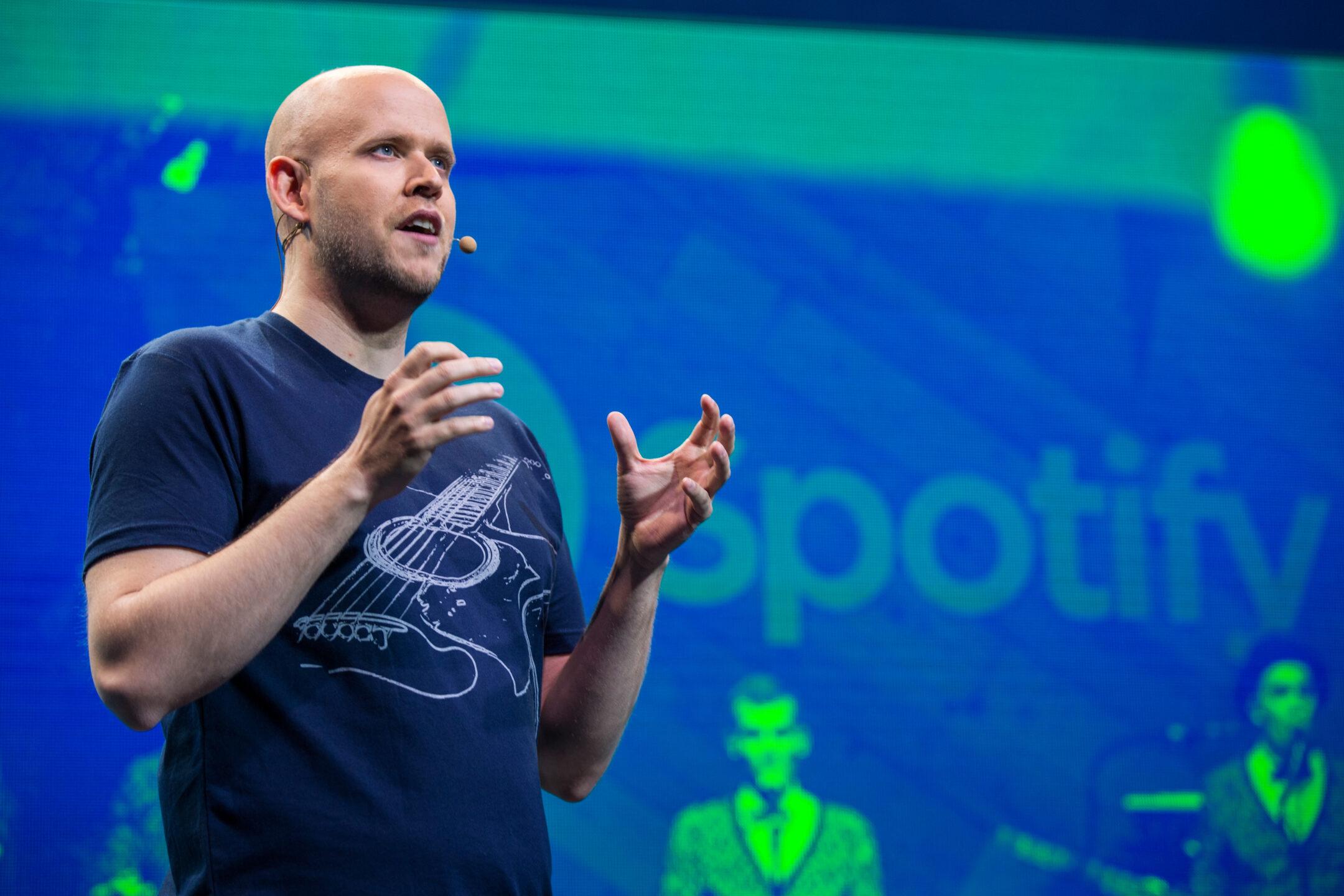 Daniel Ek, fondatore e ceo Spotify