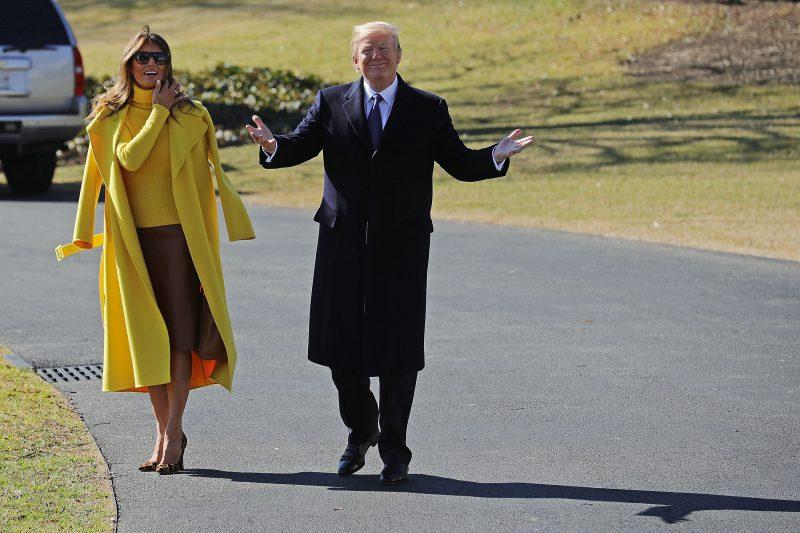 il presidente Usa Donald Trump e Melania Trump