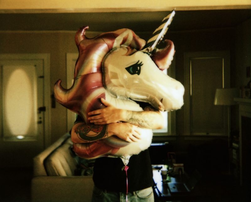 pallone a forma di unicorno