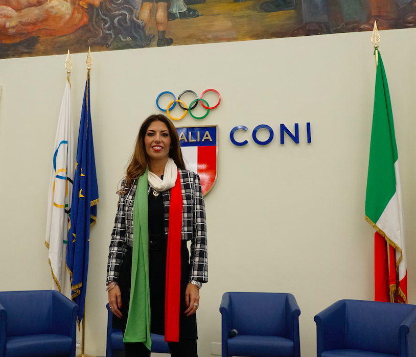 Lavinia Biagiotti posa al Coni