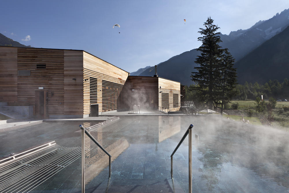 La spa di QC Terme a Chamonix
