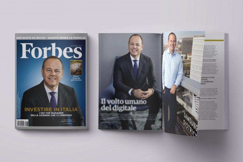 La copertina del volume di novembre di Forbes
