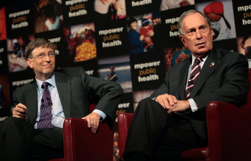 Bill Gates e Michael Bloomberg