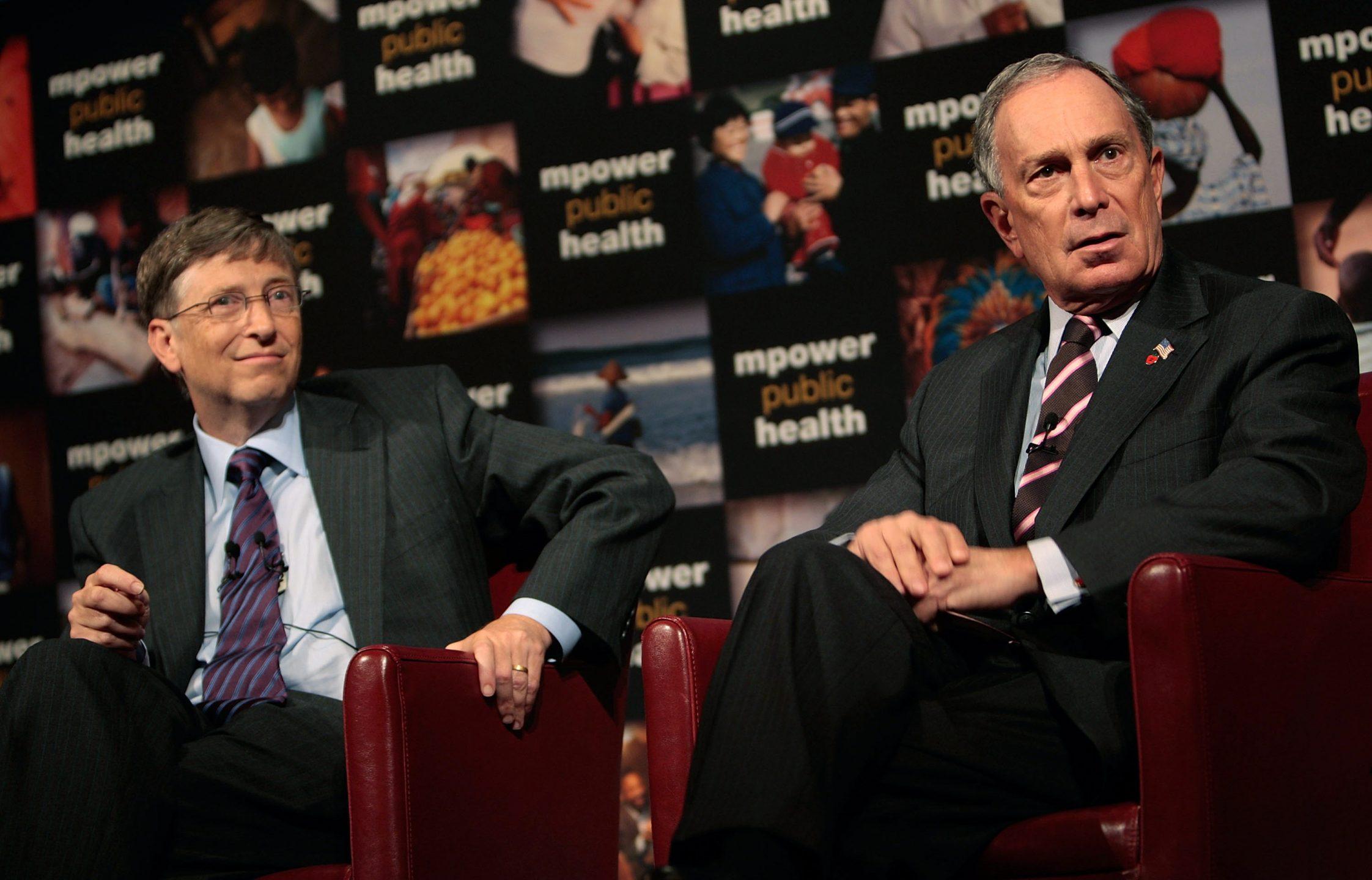 Bill Gates e Michael Bloomberg