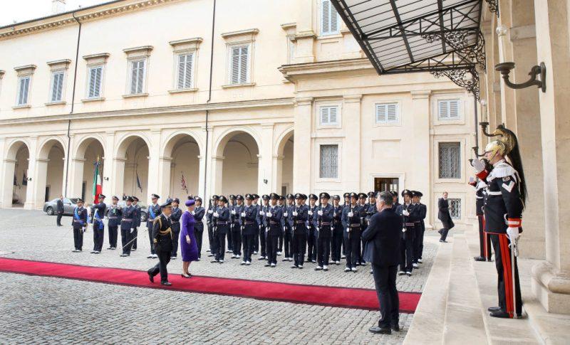 La regina Margherita di Danimarca al Quirinale.