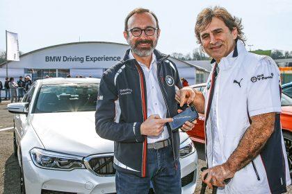 Sergio Solero (Market Strategy di Bmw Italia) con Alex Zanardi.