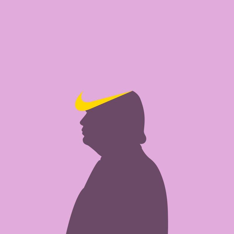 Trump con simbolo Nike