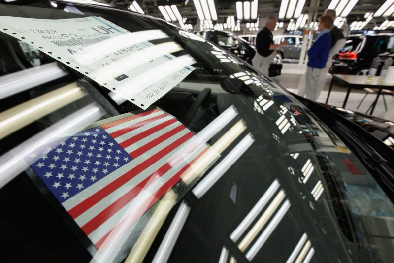 Una Volkswagen destinata all'esportazione negli Usa