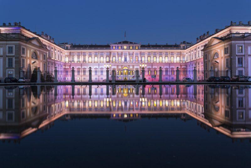 Villa Reale di Monza illuminata a festa