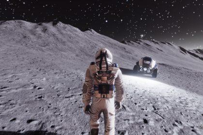 scena di videogioco DeliverUsTheMoon