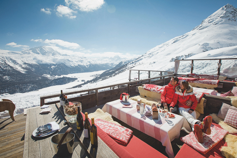 Terrazza montagna St Moritz