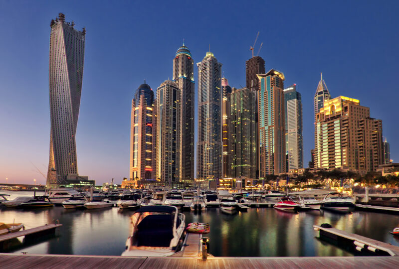 vista della marina di Dubai