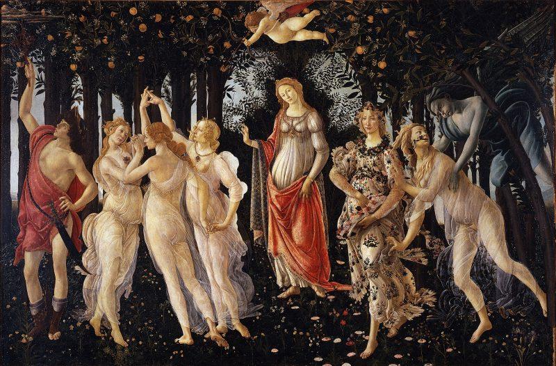immagine primavera del botticelli