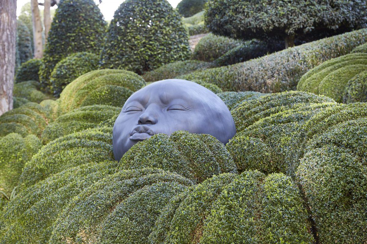 giardini scultura volto