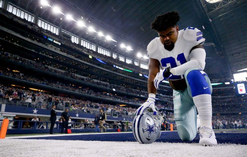 Ezekiel Elliott dei Dallas Cowboys, il team sportivo di maggior valore al mondo.