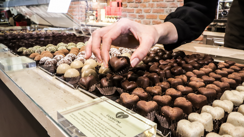 cioccolatini mani