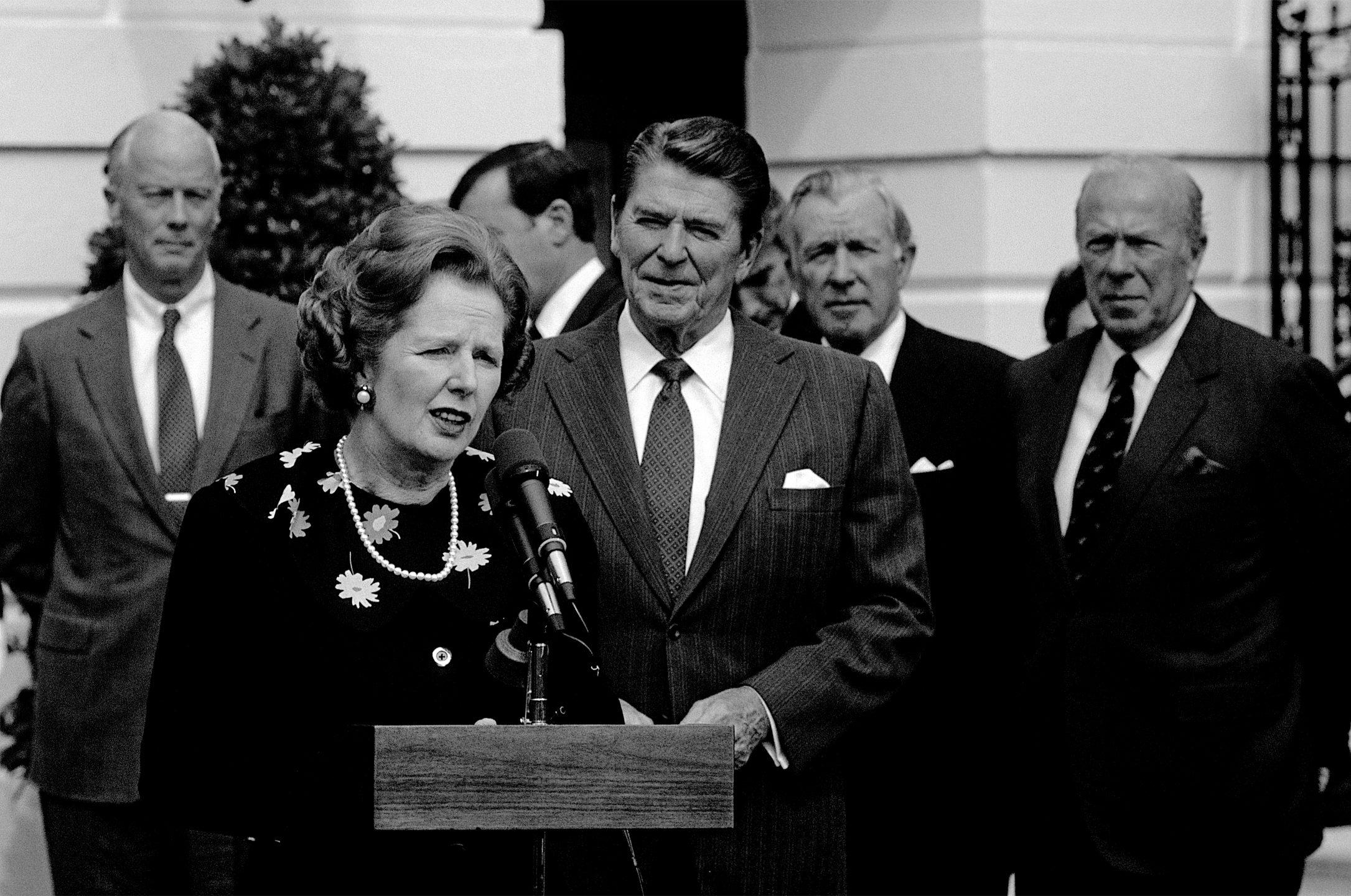 Margaret Thatcher e Ronald Reagan