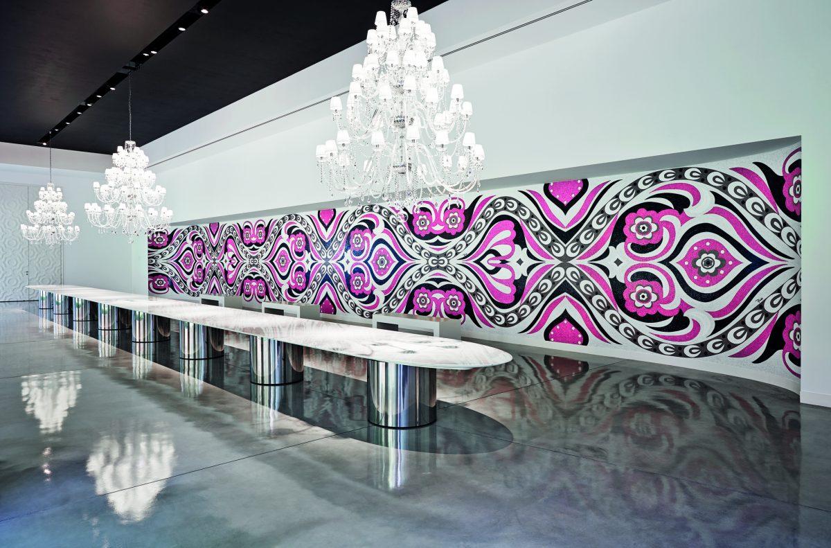rosa lampadario tavolo
