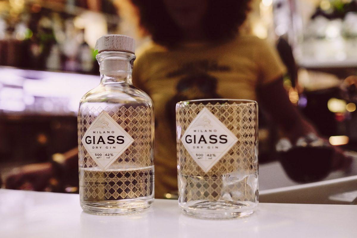 bottiglia scritta vetro
