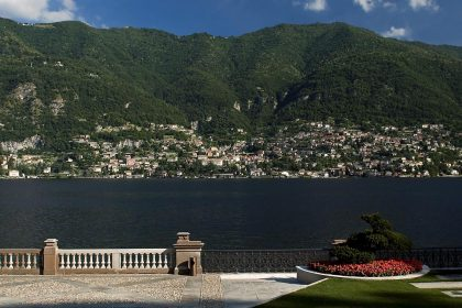 lago di como, panorama, fiori