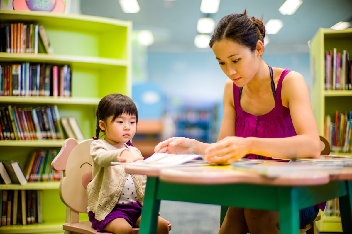 bambina cinese a scuola