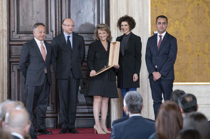 Elena Zambon alla premiazione