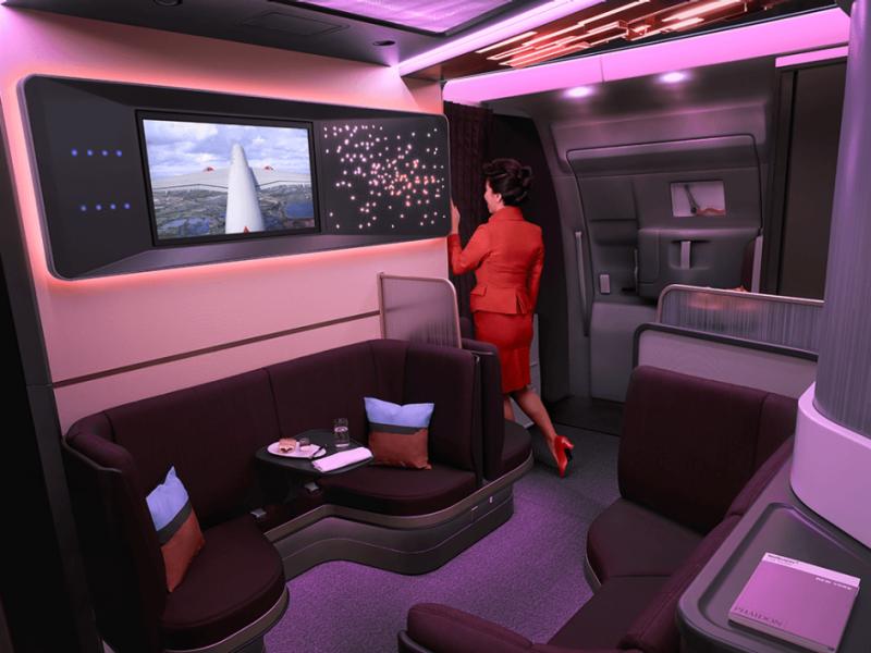 aereo sedie schermo