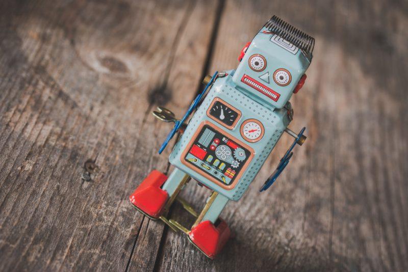 Robot giocattolo vintage