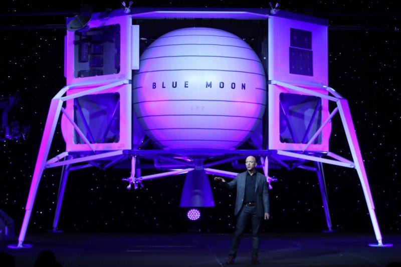 jeff bezos con blue origin porterà la prima donna sulla luna