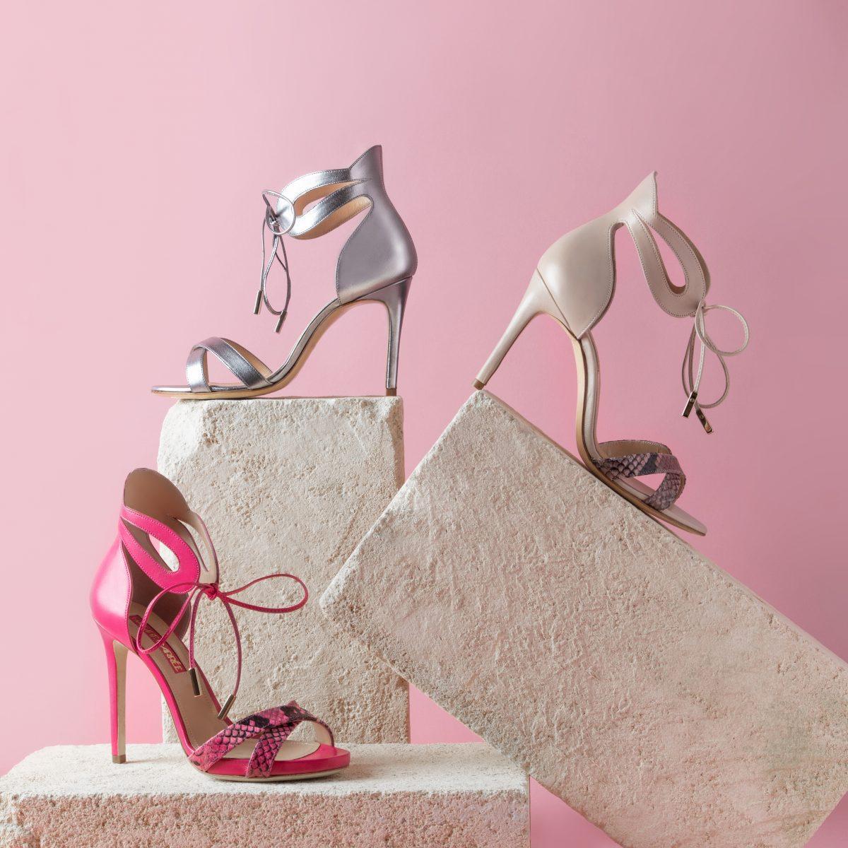 scarpe rosa colori