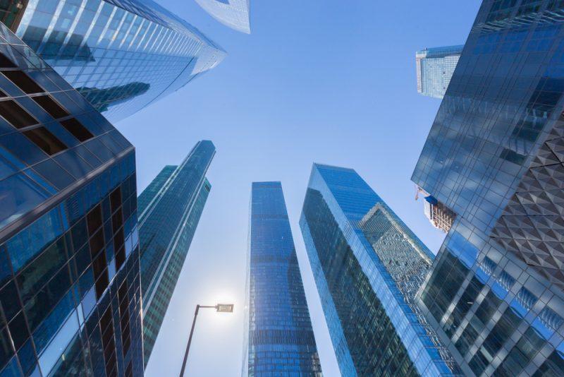 grattacieli visti dal basso