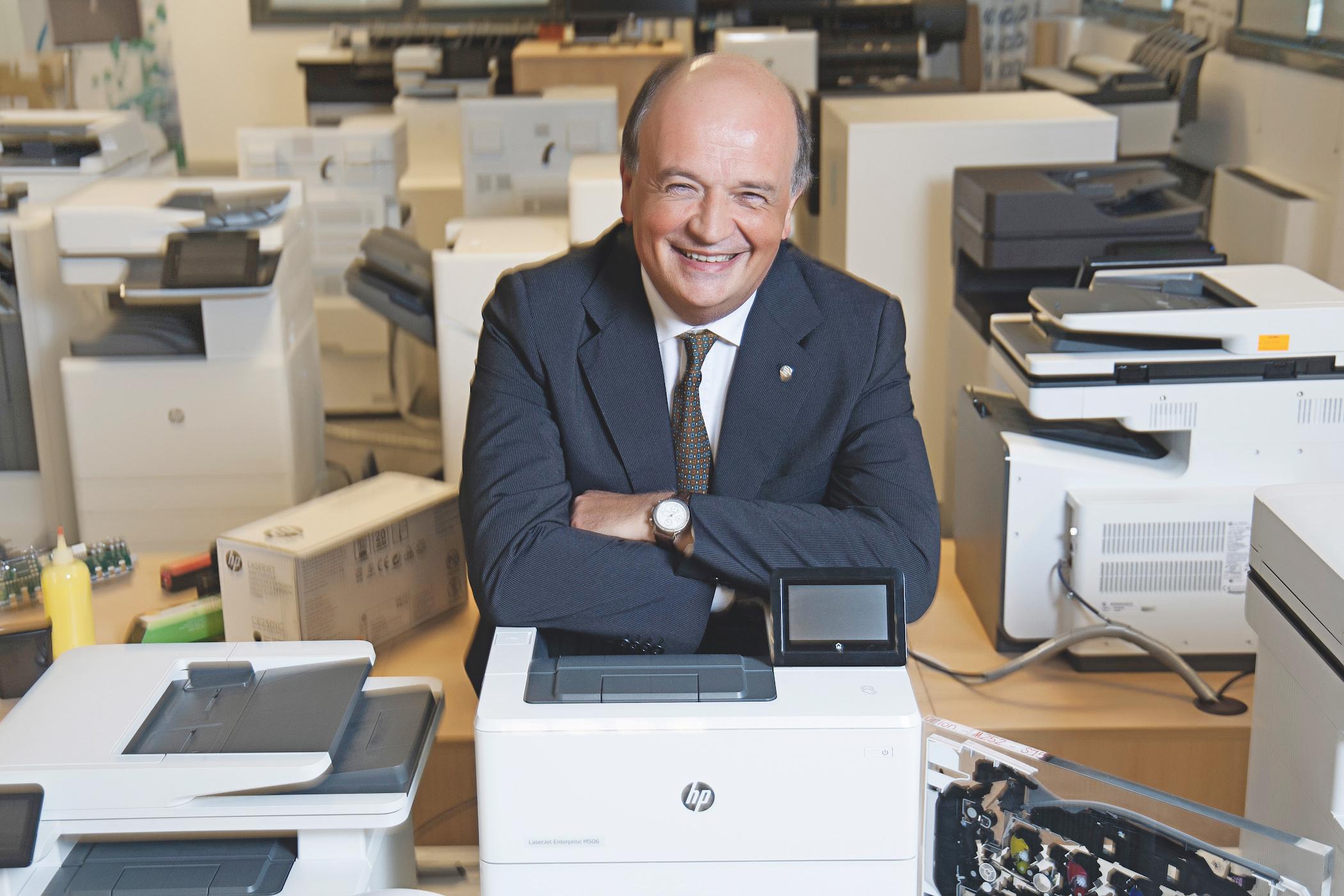 Tino Canegrati,59 anni, di Legnano, è alla guida di Hp Italy