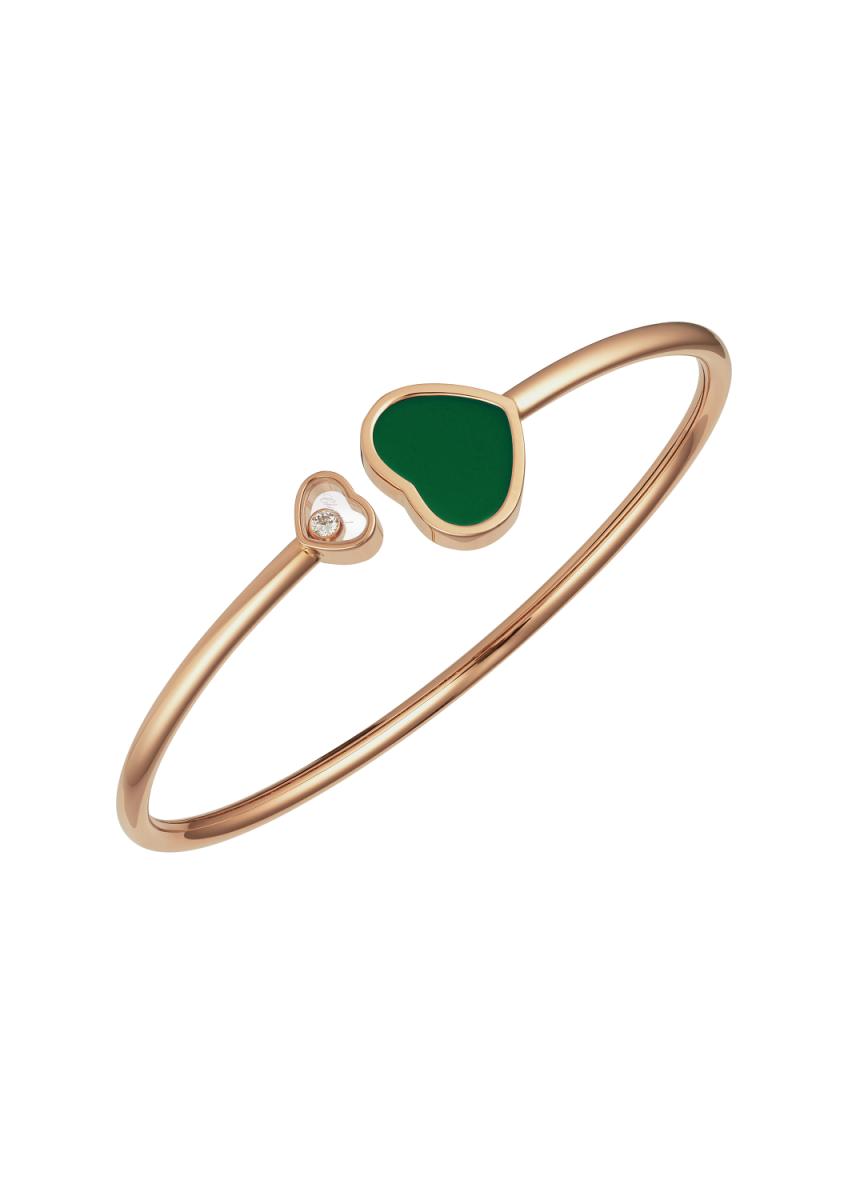 bracciale cuore verde