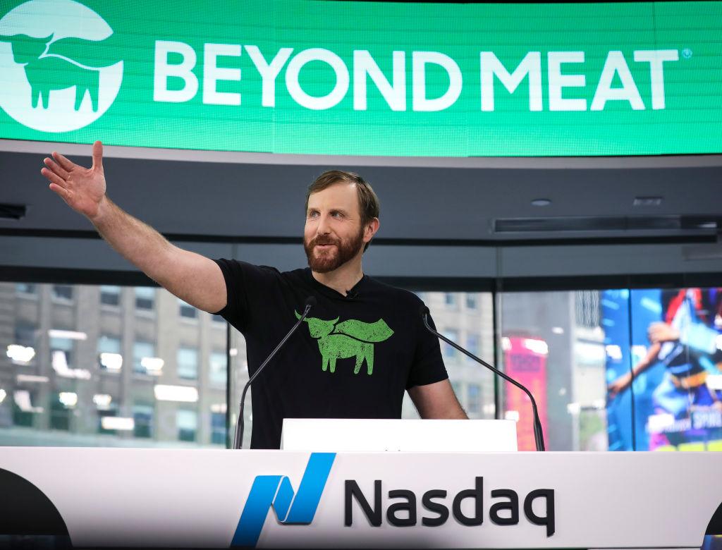 il fondatore di beyond meat - carne vegetariana - trimestrale flop e accordo con mcdonald's