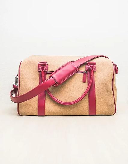 borsa rosso beige