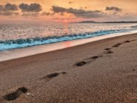tramonto sole mare cielo