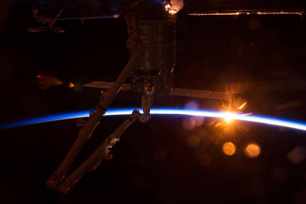 la stazione spaziale orbitante