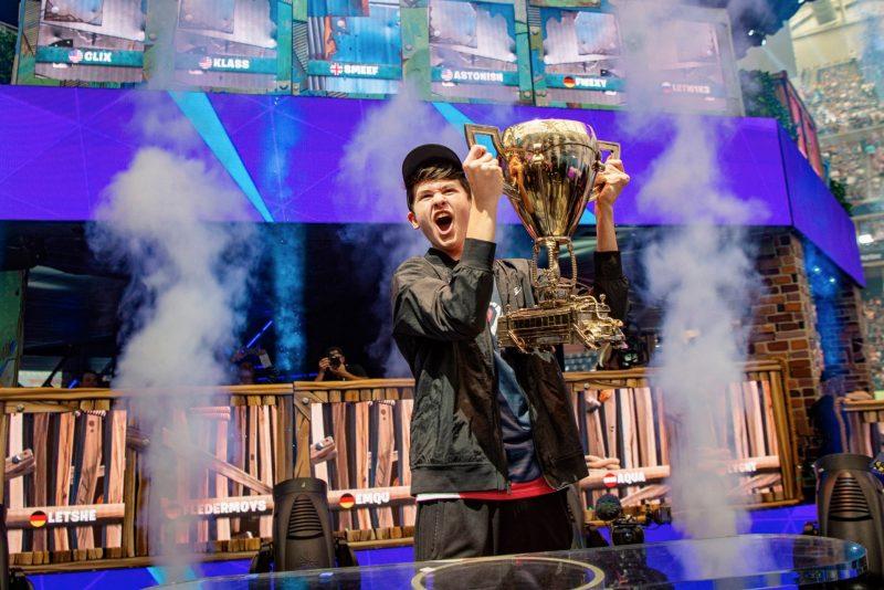 uno dei vincitori dei Mondiali di Fortnite