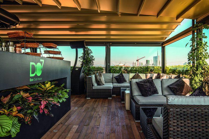 la terrazza dell'Eco Club House