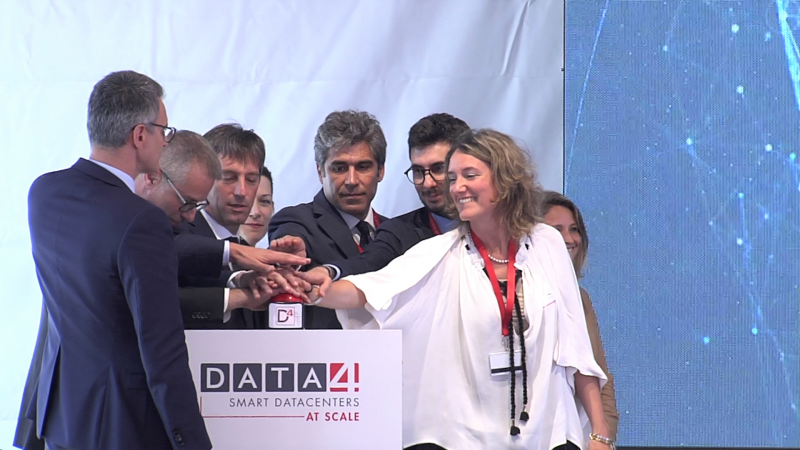Un momento dell'inaugurazione del data center di Cornaredo