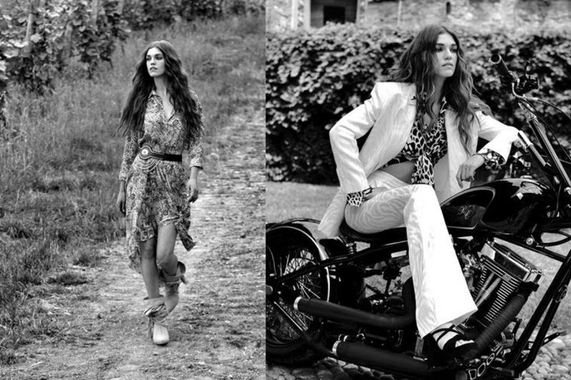 modelle bianco e nero