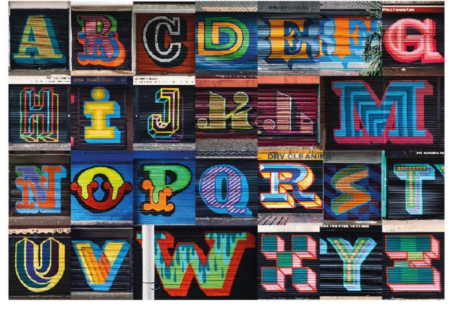 Ben Eine: OurTypes, Londra - Alphabet completo