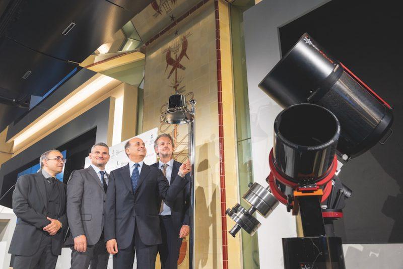 Il management di Officine Stellari il giorno dell'Ipo in Borsa Italiana