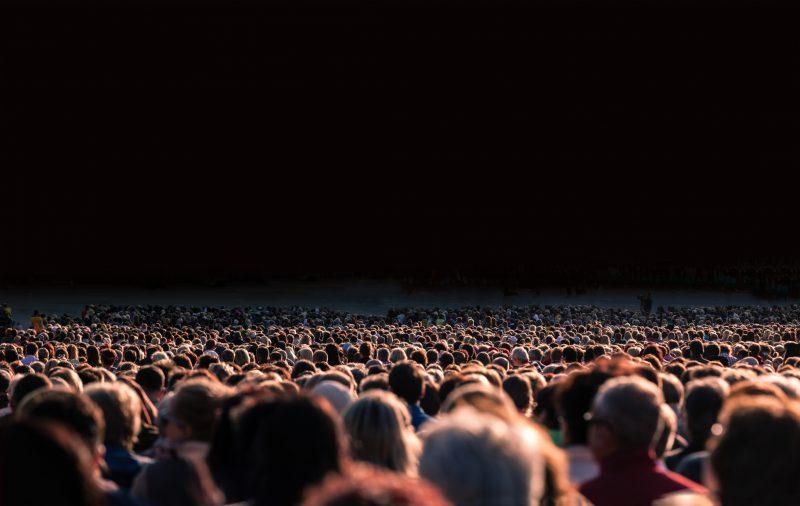 folla a un concerto