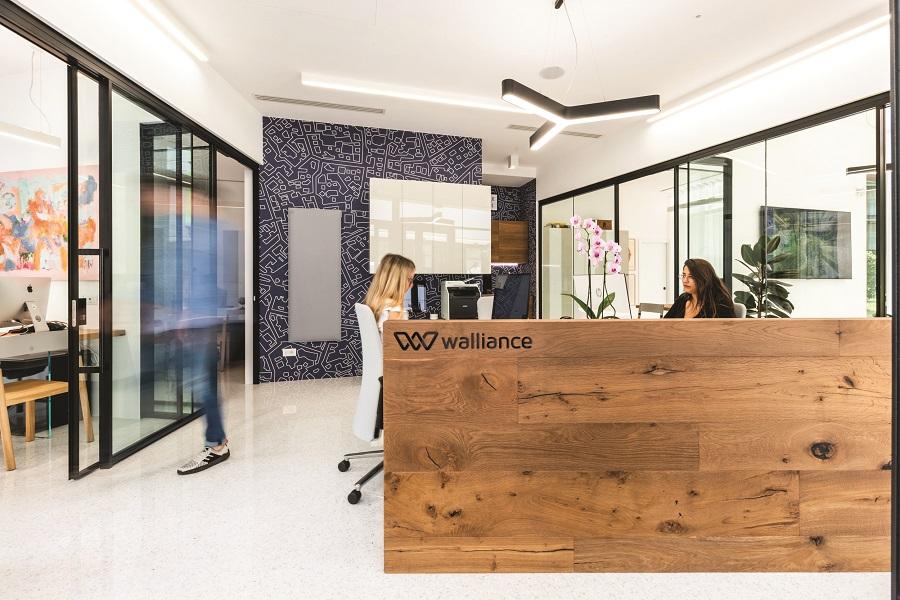 Gli uffici di Walliance: reale estate crowdfunding