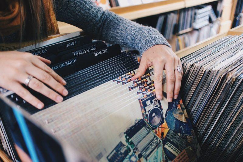 Negozio di dischi in vinile