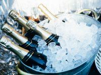champagne nel ghiaccio