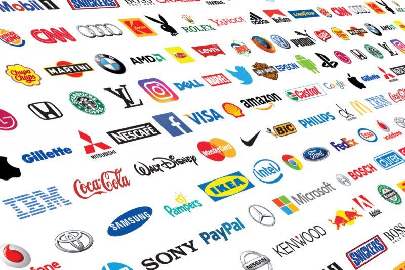 brand su fondo bianco