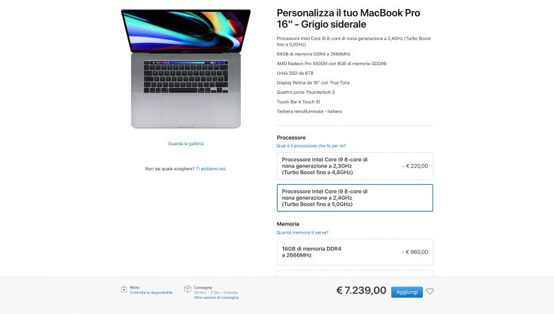Un Macbook da 7.000 euro
